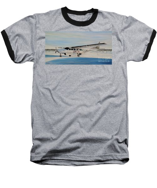 Baseball T-Shirt featuring the painting Cessna 208 Caravan by Marilyn  McNish