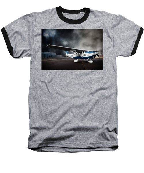 Cessna Ground Baseball T-Shirt by Paul Job