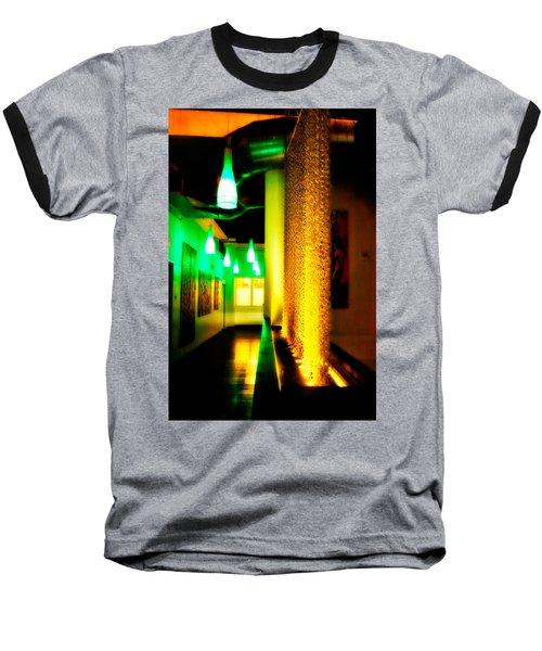 Chain Lighting Baseball T-Shirt by Melinda Ledsome