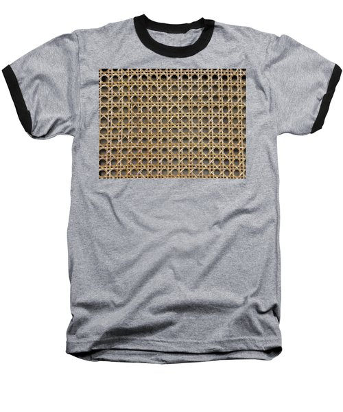 Baseball T-Shirt featuring the photograph Chair Caning  by Sherman Perry