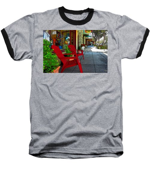 Chairs On A Sidewalk Baseball T-Shirt