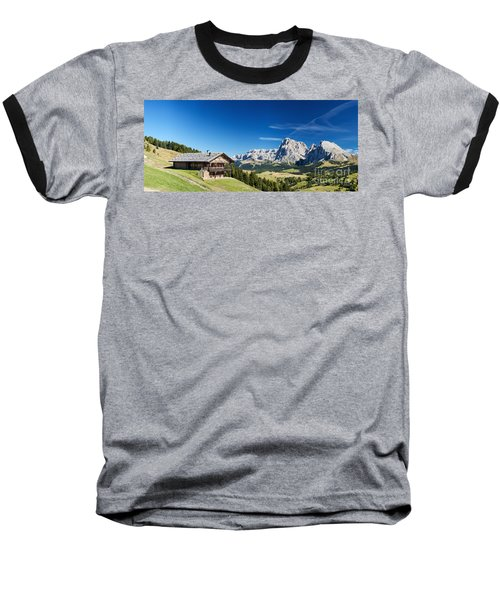 Baseball T-Shirt featuring the photograph Chalet In South Tyrol by Carsten Reisinger