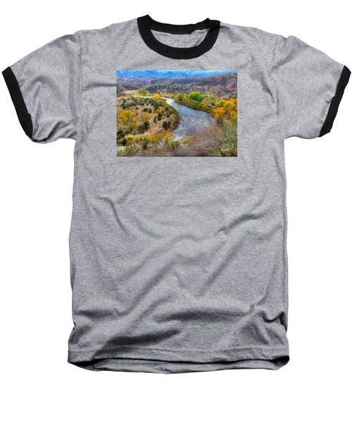 Chama River Overlook Baseball T-Shirt by Alan Toepfer