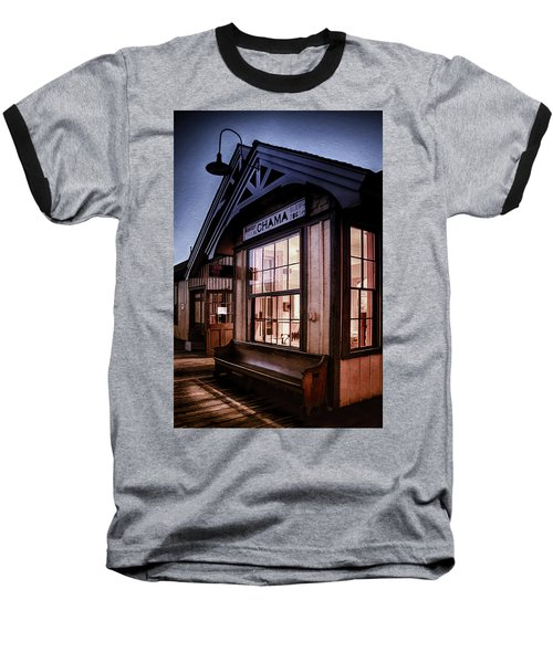 Baseball T-Shirt featuring the photograph Chama Train Station by Priscilla Burgers