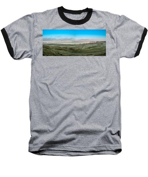 Chambers Bay Panorama Baseball T-Shirt by E Faithe Lester