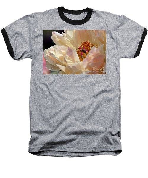 Champagne Peony Baseball T-Shirt