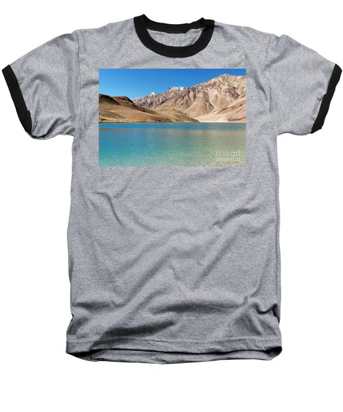 Chandratal Lake Baseball T-Shirt by Yew Kwang