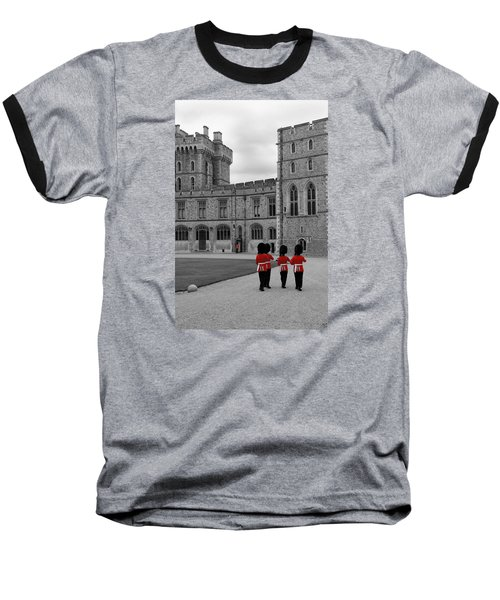 Changing Of The Guard At Windsor Castle Baseball T-Shirt by Lisa Knechtel