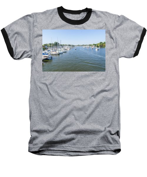 Baseball T-Shirt featuring the photograph Channel Down Spa Creek by Charles Kraus