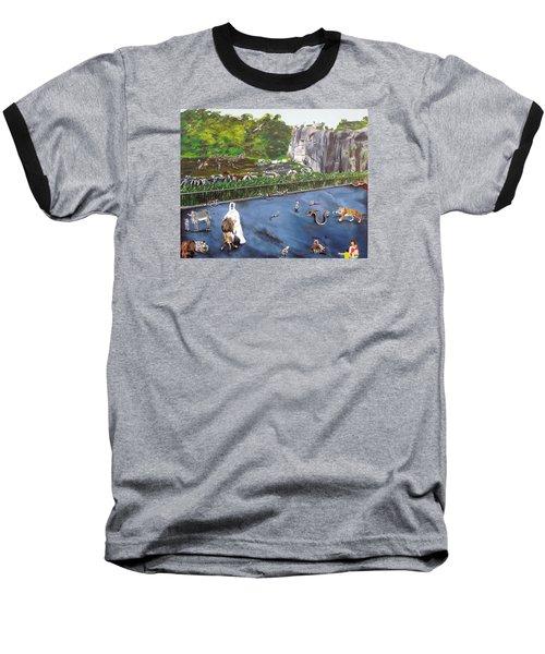 Chaos At The Garden Baseball T-Shirt