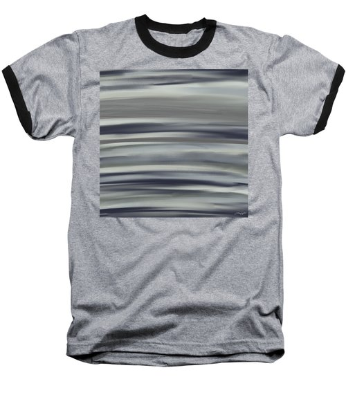Charcoal And Blue Baseball T-Shirt