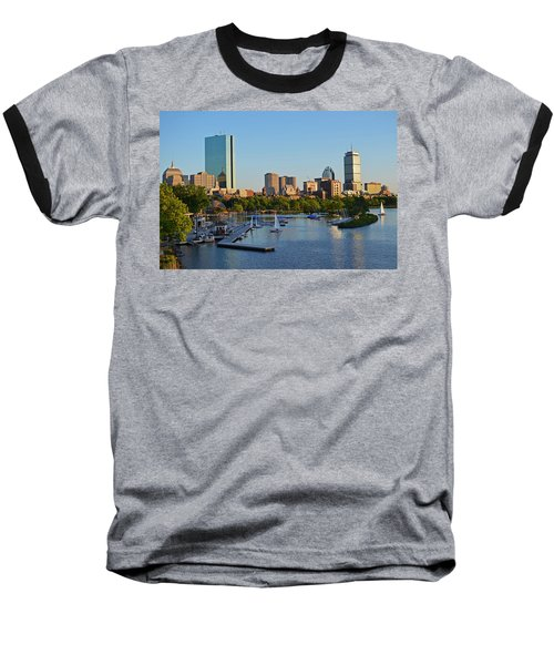 Charles River At Sunset Baseball T-Shirt