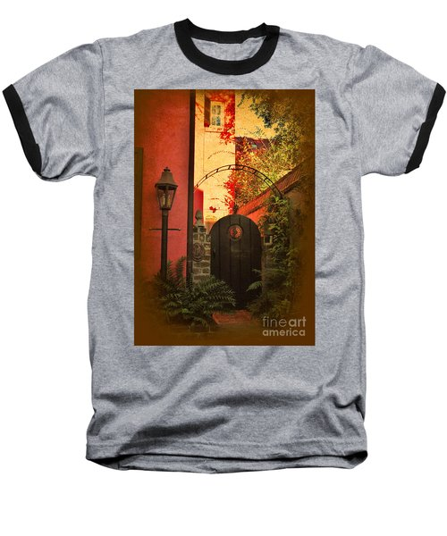 Baseball T-Shirt featuring the photograph Charleston Garden Entrance by Kathy Baccari
