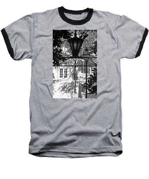Charleston Gateway II In Black And White Baseball T-Shirt by Suzanne Gaff