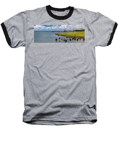 Baseball T-Shirt featuring the photograph Charleston Harbor by Sennie Pierson