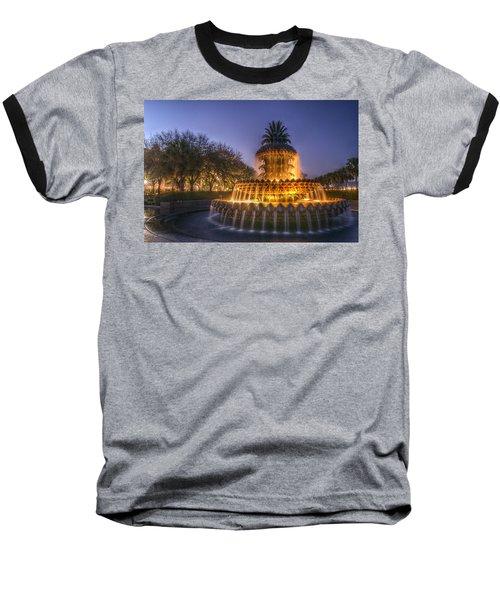 Charleston Pineapple Fountain Baseball T-Shirt