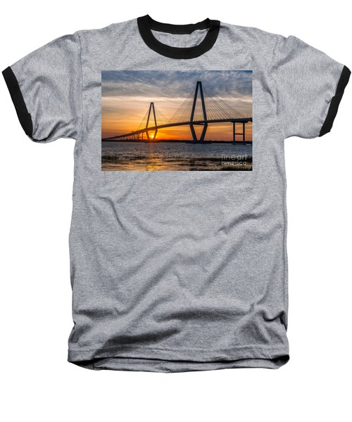 Charleston Sun Setting  Baseball T-Shirt