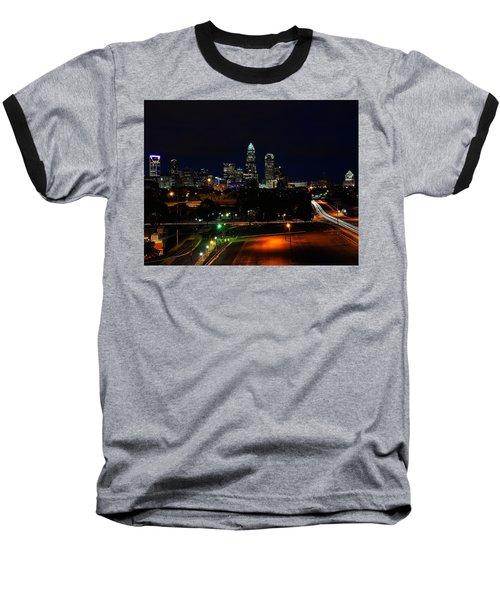 Charlotte Nc At Night Baseball T-Shirt