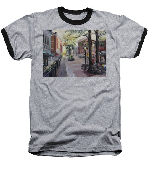 Charlottesville's Historic Downtown Mall Baseball T-Shirt by Donna Tuten
