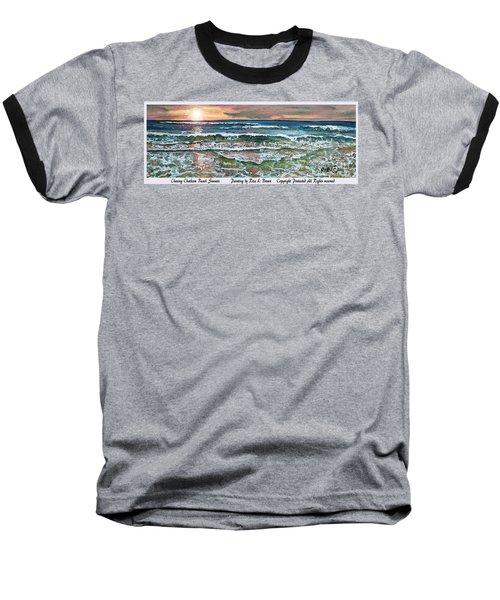 Chasing Chatham Beach Sunsets Baseball T-Shirt by Rita Brown