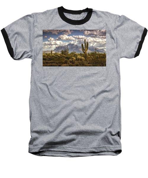 Chasing Clouds Two  Baseball T-Shirt by Saija  Lehtonen