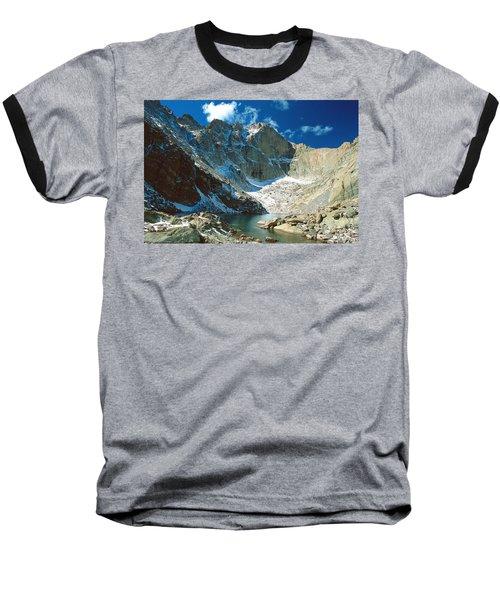 Chasm Lake Baseball T-Shirt by Eric Glaser