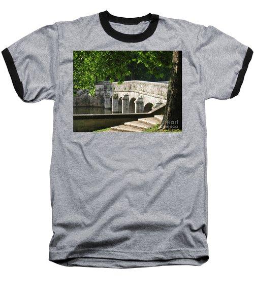 Chateau Chambord Bridge Baseball T-Shirt by HEVi FineArt
