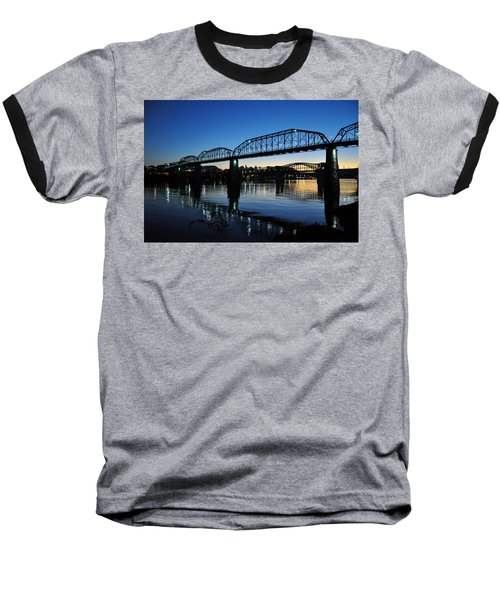 Tennessee River Bridges Chattanooga Baseball T-Shirt