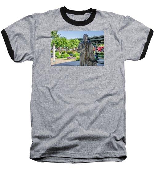 Baseball T-Shirt featuring the photograph Chattanooga Choo Choo Court Yard by Susan  McMenamin