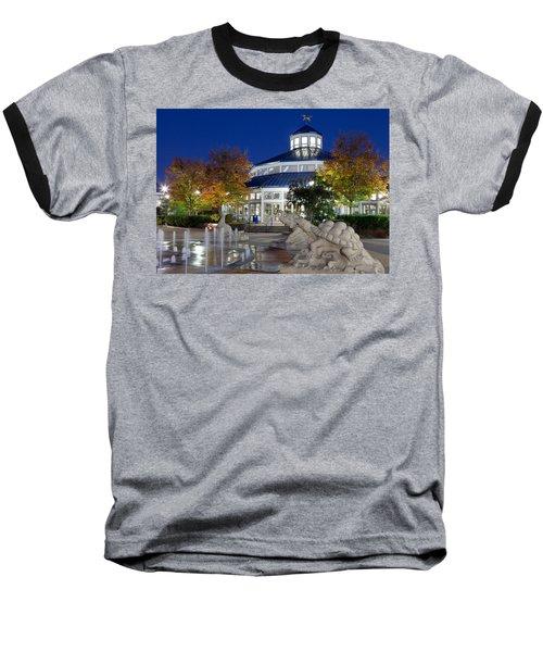 Chattanooga Park At Night Baseball T-Shirt