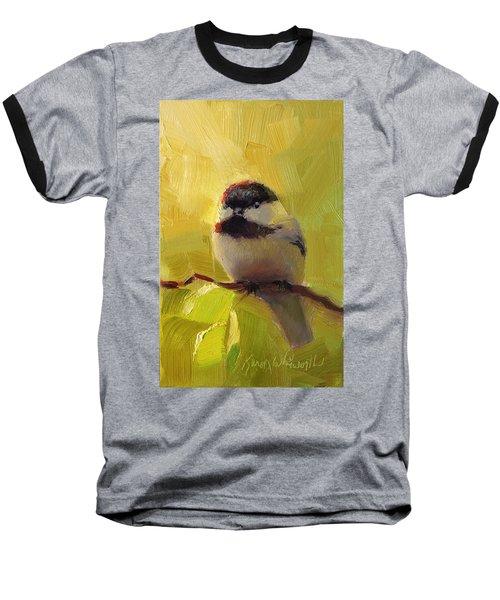 Chatty Chickadee - Cheeky Bird Baseball T-Shirt