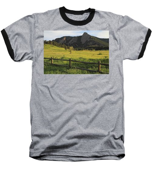 Chautauqua Park And Flatirons Baseball T-Shirt