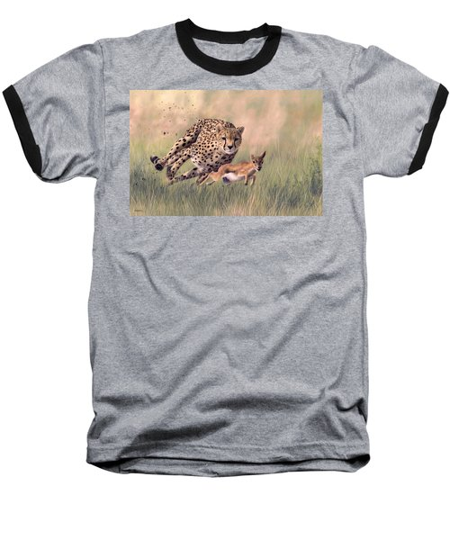 Cheetah And Gazelle Painting Baseball T-Shirt