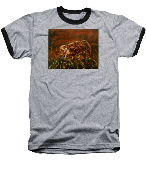 Cheetah Family After The Rains Baseball T-Shirt by Sean Connolly