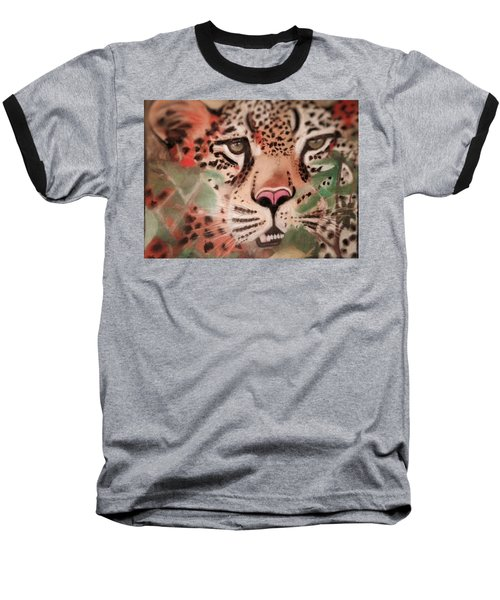 Cheetah In The Grass Baseball T-Shirt