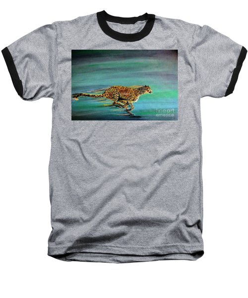 Cheetah Run Baseball T-Shirt