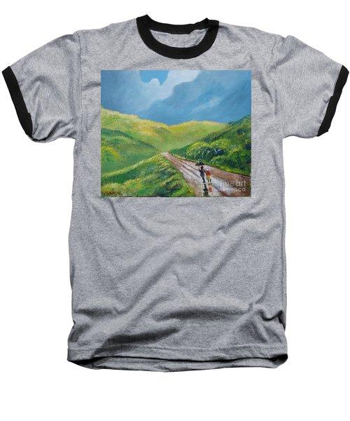 Chemin Sous Une Pluie Tropicale Baseball T-Shirt