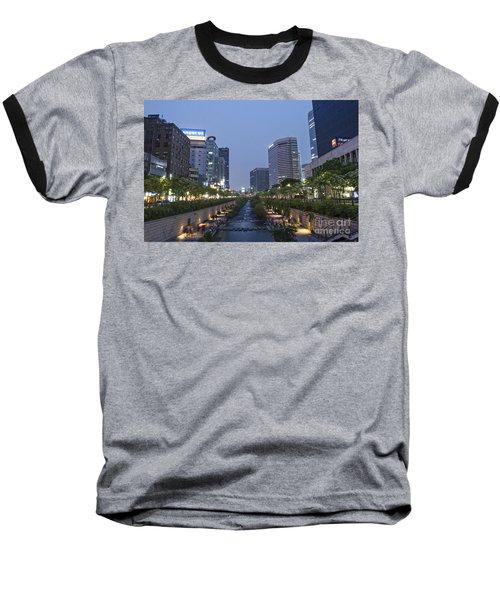 Cheonggyecheon Stream In Seoul South Korea Baseball T-Shirt