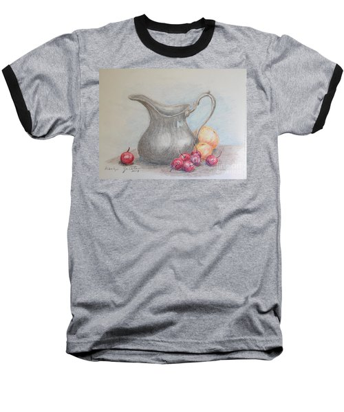 Cherries Still Life Baseball T-Shirt