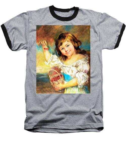 Cherry Basket Girl Baseball T-Shirt