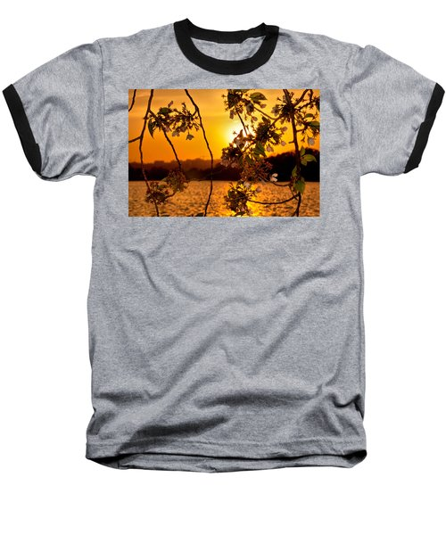 Baseball T-Shirt featuring the photograph Cherry Blossom Sunset by Mitchell R Grosky