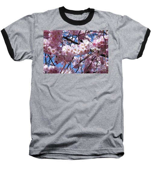 Cherry Blossom Trees Of Branch Brook Park 3 Baseball T-Shirt