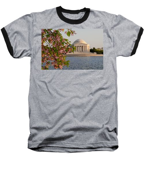 Baseball T-Shirt featuring the photograph Cherry Blossoms And The Jefferson Memorial 3 by Mitchell R Grosky