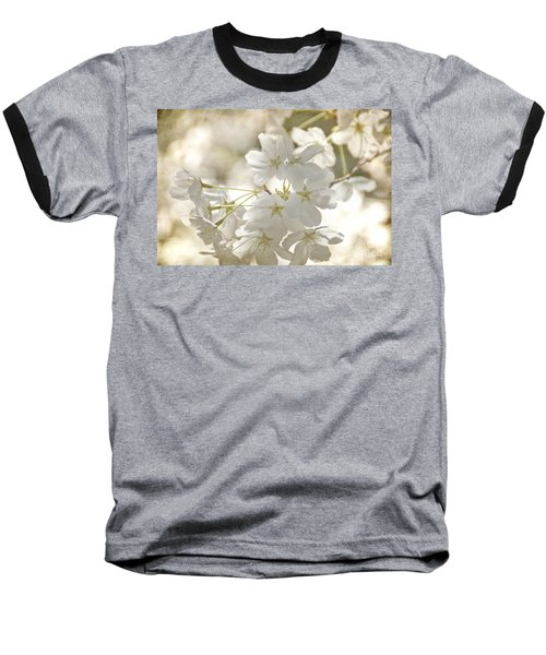 Baseball T-Shirt featuring the photograph Cherry Blossoms by Peggy Hughes