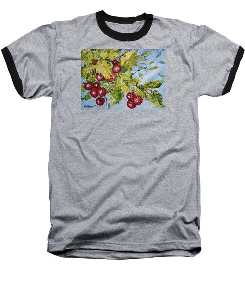 Baseball T-Shirt featuring the painting Cherry Breeze by Kathleen Pio