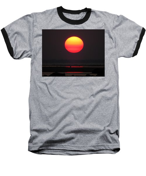 Cherry Drop Sunrise Baseball T-Shirt by Dianne Cowen