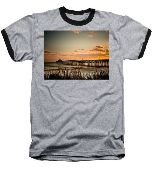 Cherry Grove Pier Myrtle Beach Sc Baseball T-Shirt by Trish Tritz
