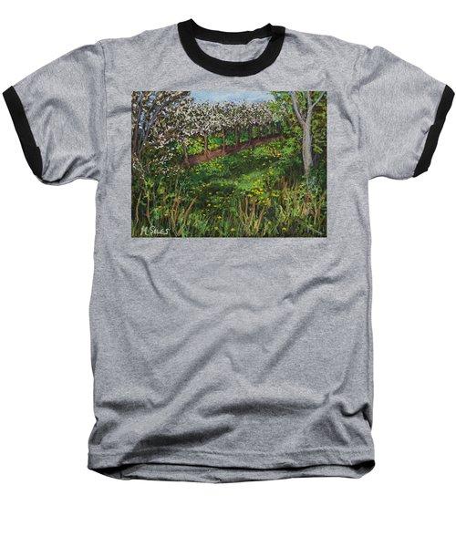 Cherry Orchard Evening Baseball T-Shirt