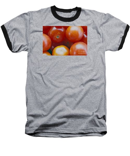 Baseball T-Shirt featuring the photograph Cherry Tomatoes by Cassandra Buckley