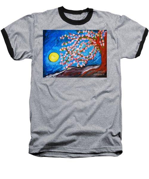 Cherry Tree In Blossom  Baseball T-Shirt by Ramona Matei